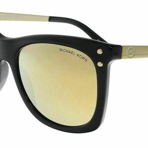 New Michael Kors Mirrored Black Gold Sunglasses